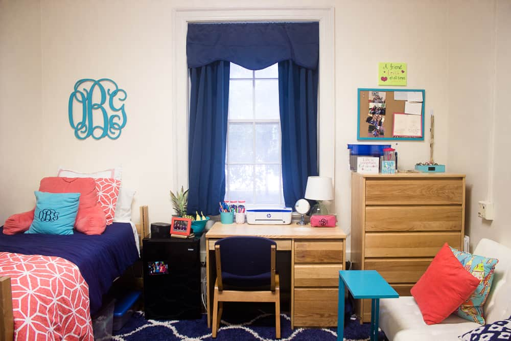 Maximizing a Small Living Space + Senior Year Dorm Room Tour ...