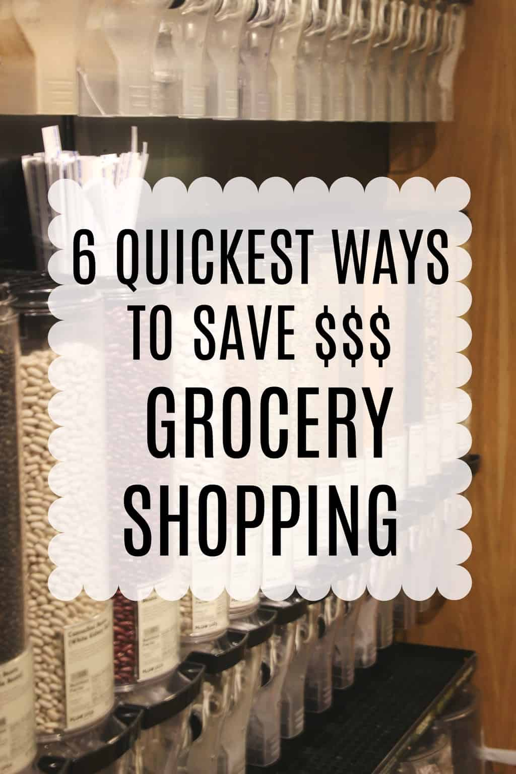 Easy ways to save money grocery shopping that don't take much time!