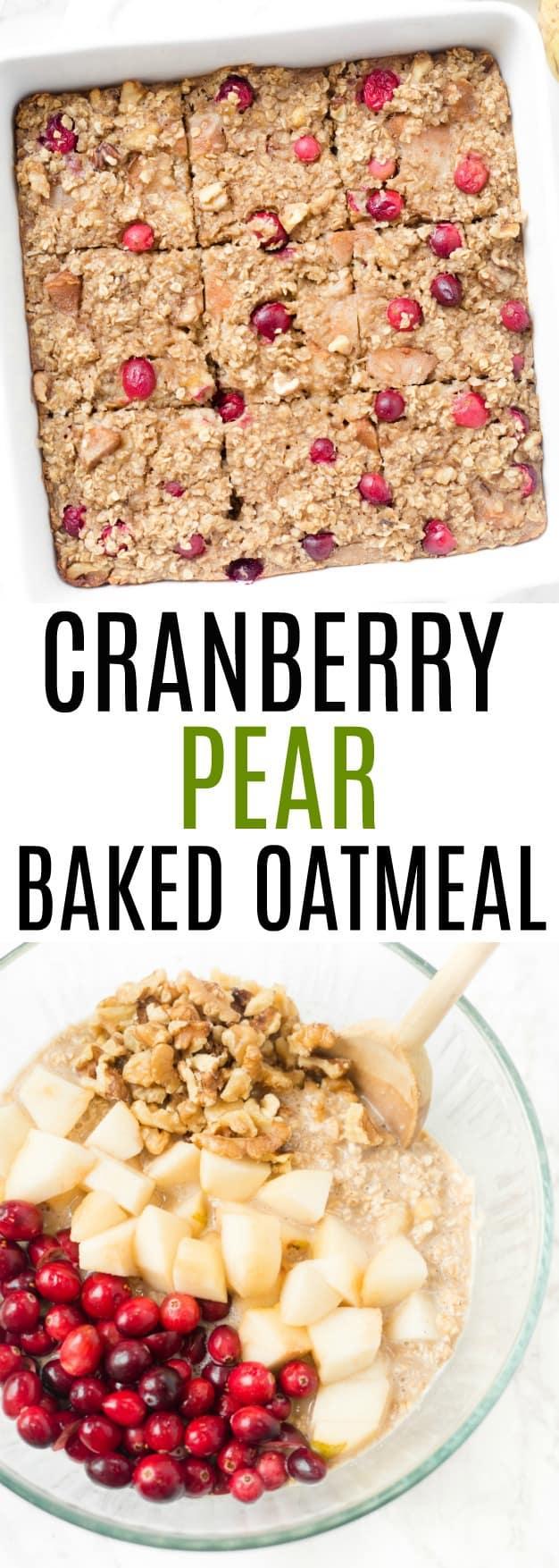 Cranberry Pear Walnut Baked Oatmeal Healthy Liv