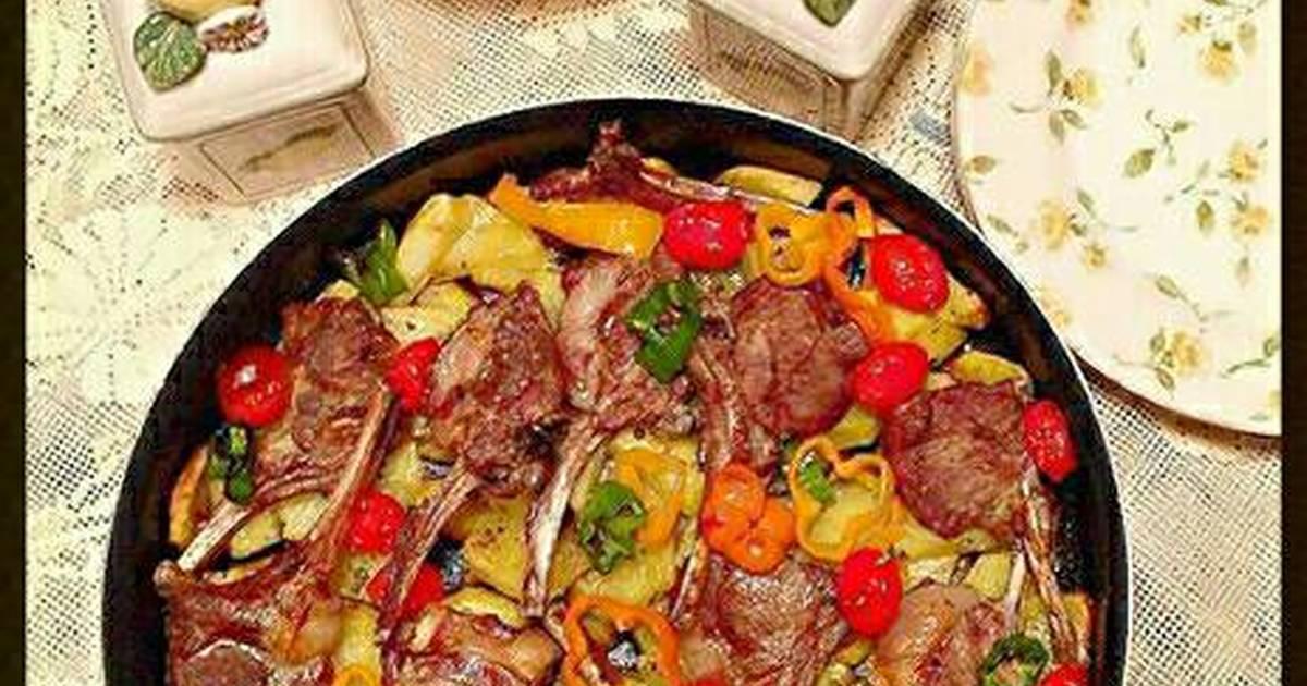 استمتع بمذاق صينية ريش اللحم بالبطاطس في الفرن الخفيفة في رمضان