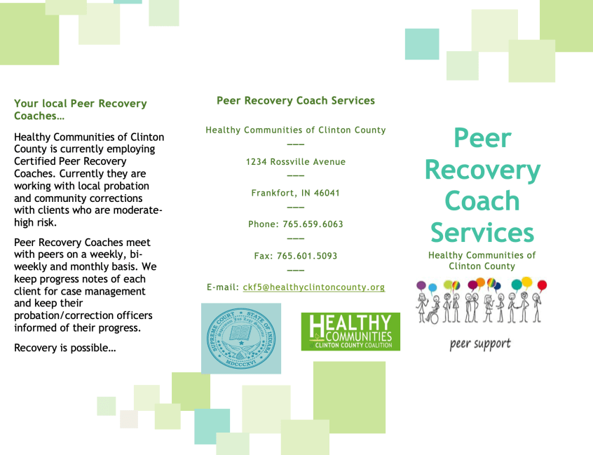 Peer Recovery Coach Services