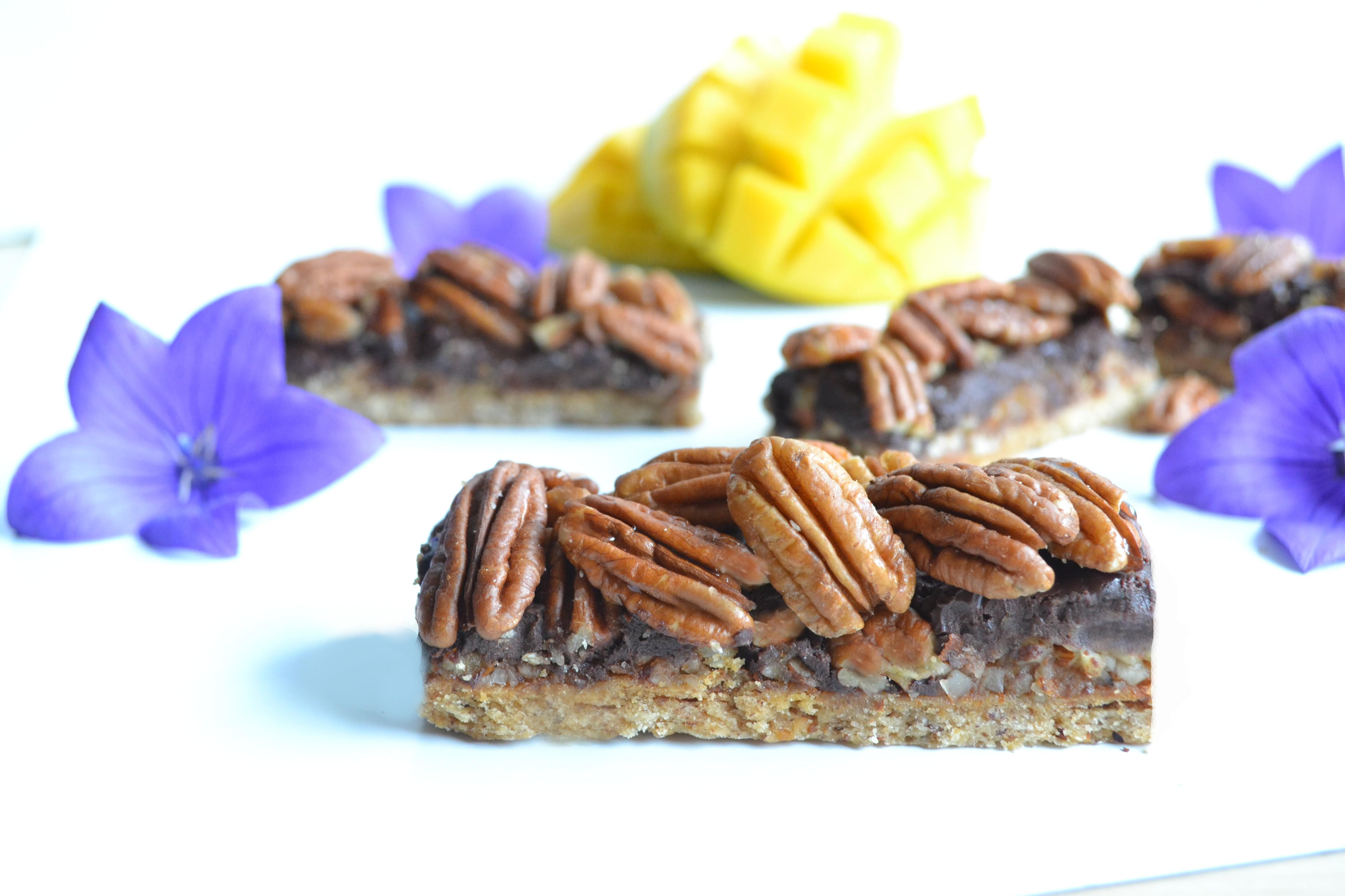 Barres au chocolat et noix de Pécan