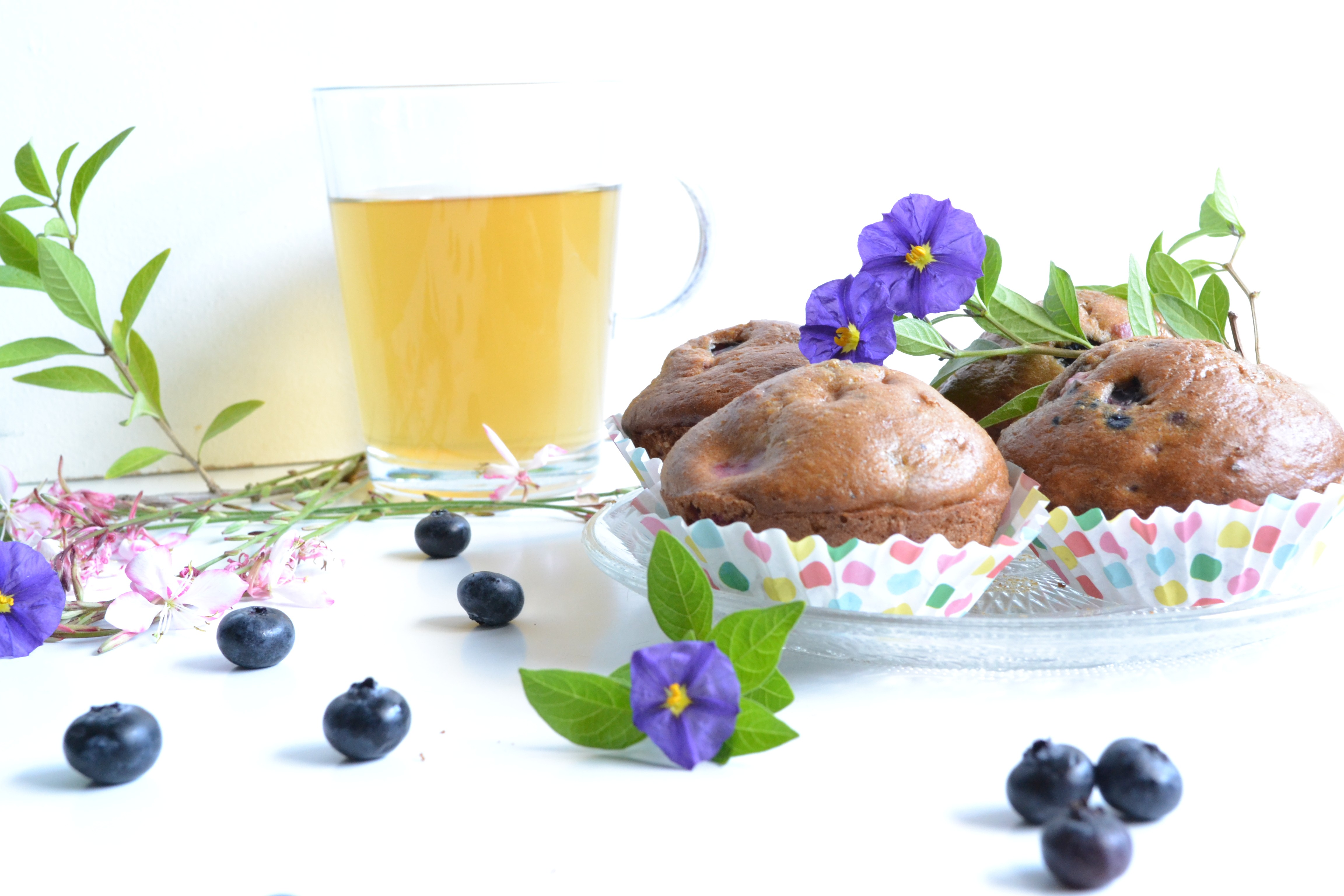 Muffins framboises et myrtilles