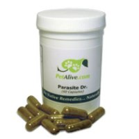 Parasite Dr - herbal remedy for cats and dogs that naturally helps expel parasites, like heartworms, tapeworms & roundworms.