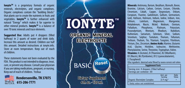 Ionyte label
