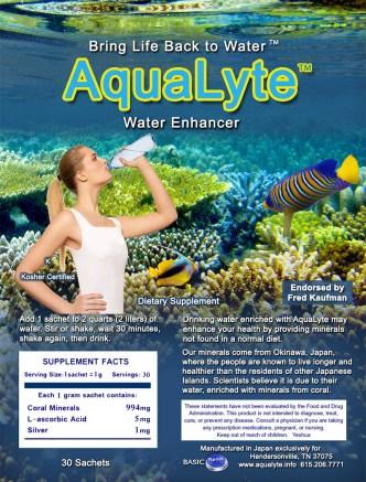 Aqualyte water enhancer label