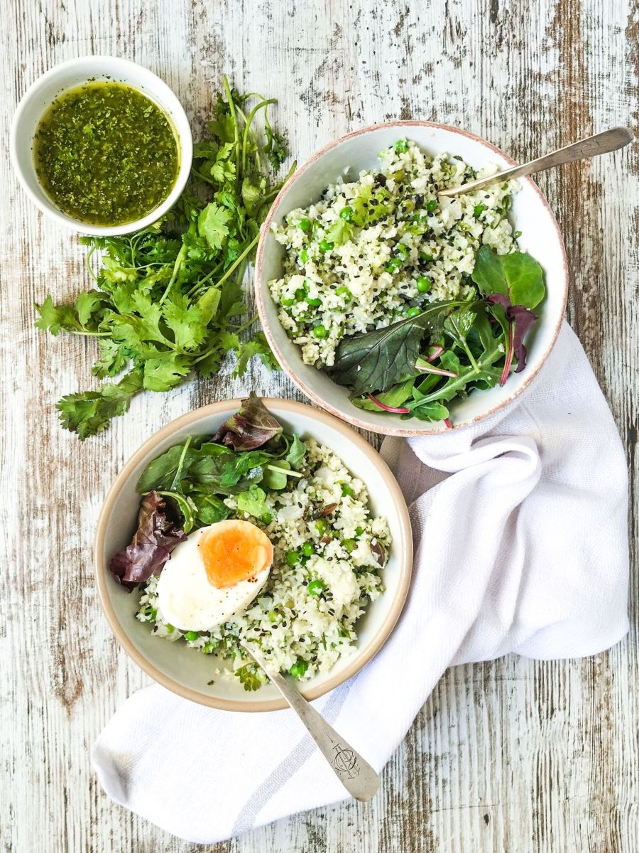 Cauliflower 'Couscous' Green Salad