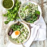 cauliflower couscous green salad