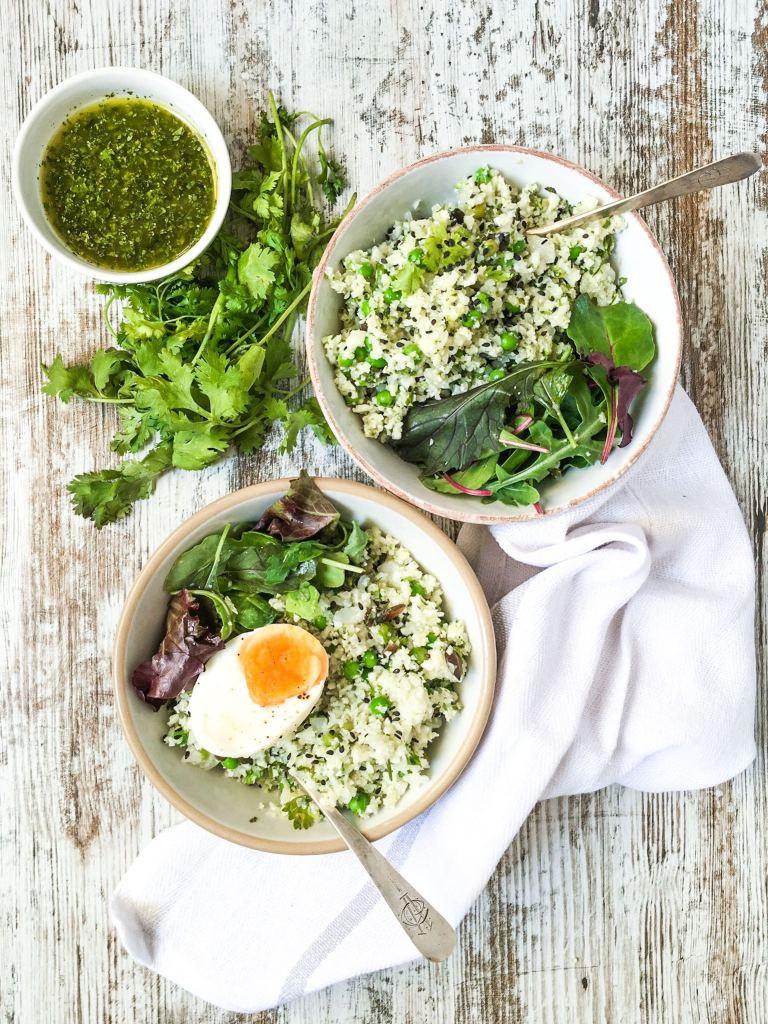 Couscous de coliflor en ensalada