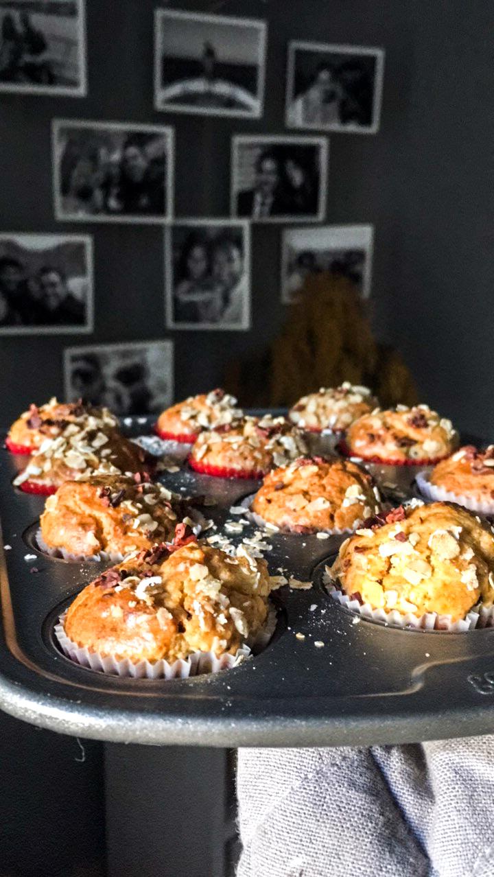 Pear chocolate muffin