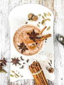 Chai hot chocolate christmas drinks