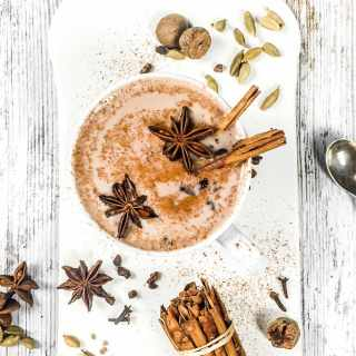 Chai hot chocolate christmas drinks