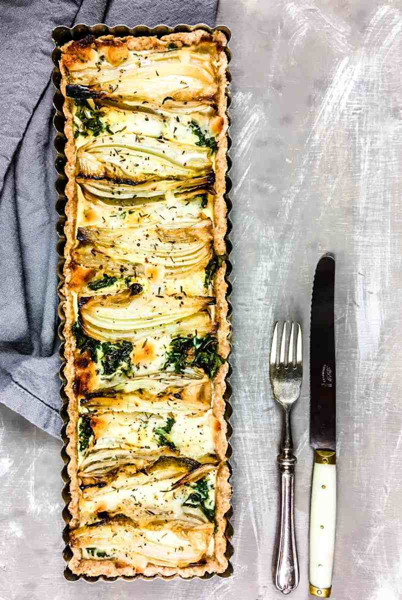 Vegetarian Christmas: Roasted Fennel & Goat Cheese Tart