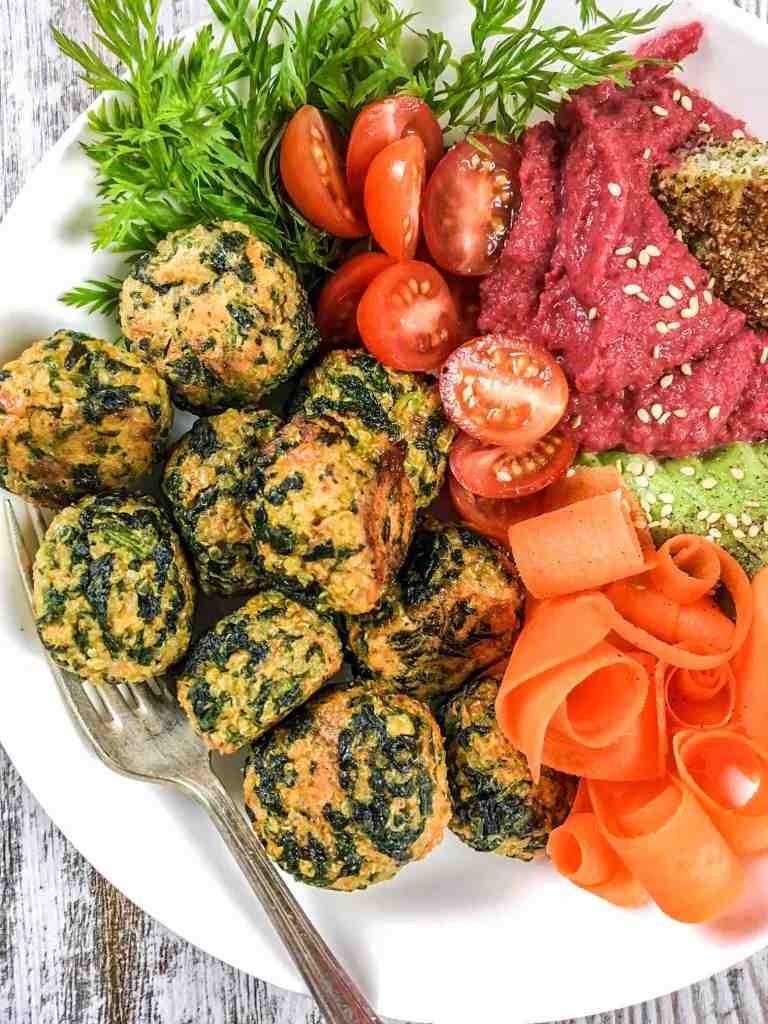 Spinach Sweet Potato Quinoa Balls