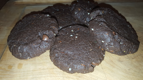 Flourless Double Chocolate Gluten Free Protein Cookies