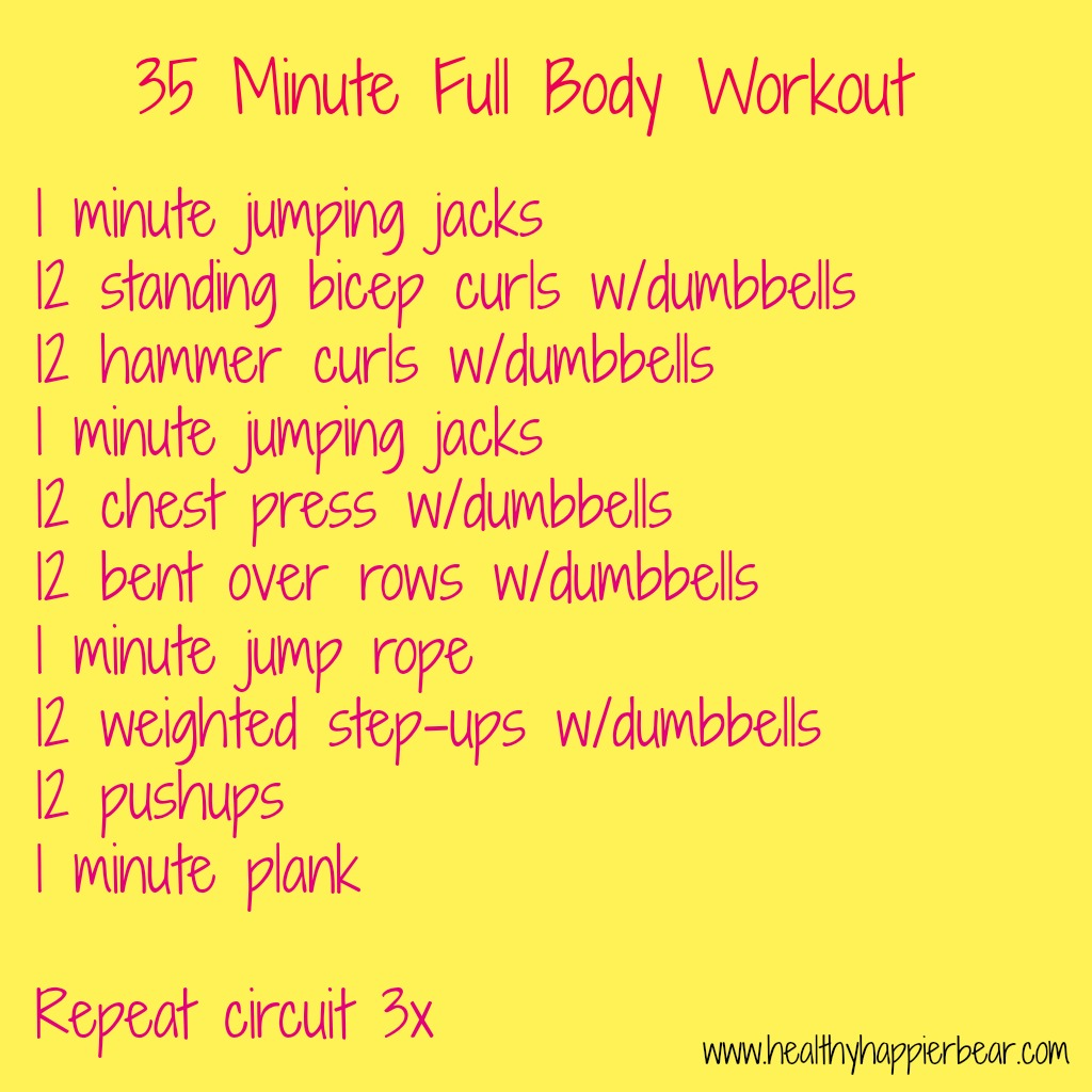 35 minute full body workout from healthyhappierbear