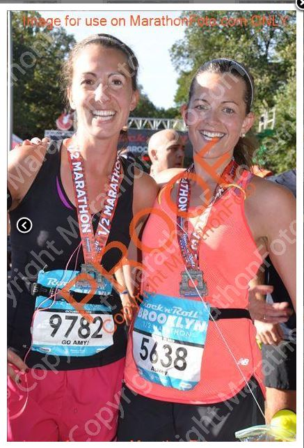 Amy and Ashley half marathon