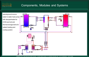 Hydronic Components, modules and systems