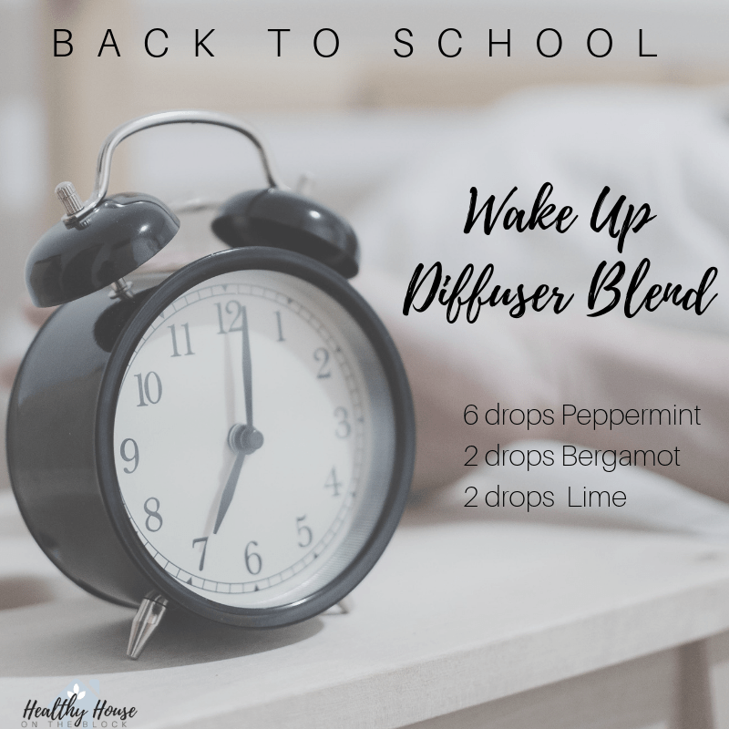 good morning diffuser blend with peppermint bergamot and lime