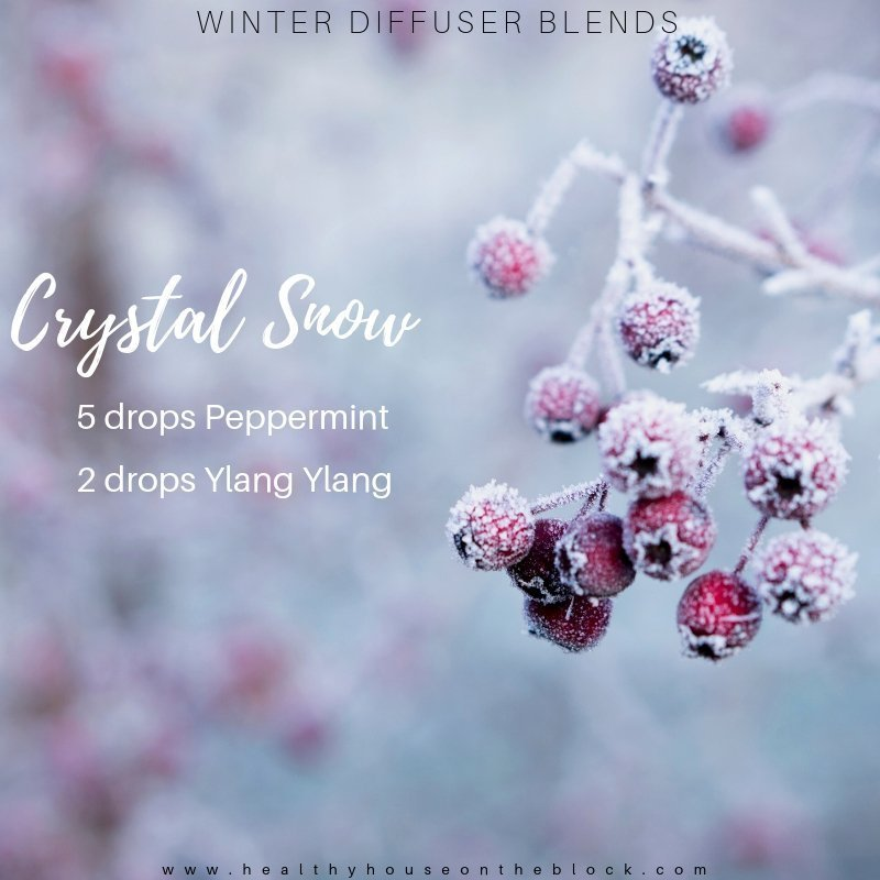 winter diffuser with peppermint and ylang ylang