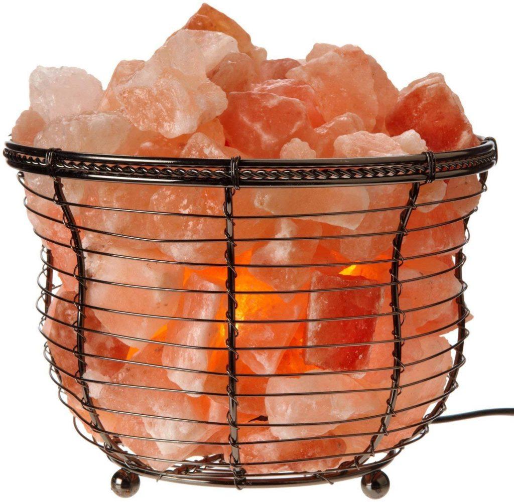 salt lamp chunks in bowl