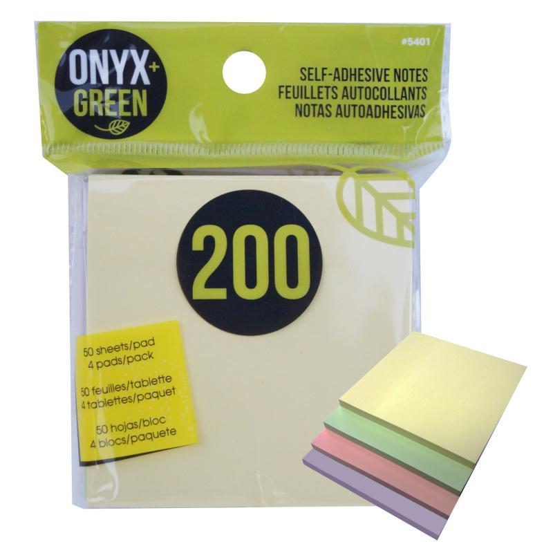 Onyx & Green Recycled Post It Notes (COUPON AMANDAK10)