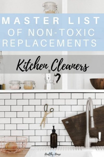 green cleaning products for the kitchen