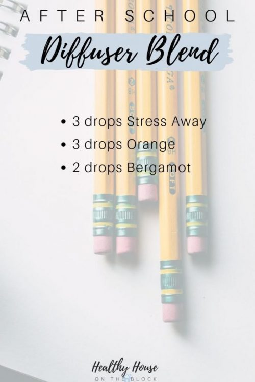 after school diffuser blend with stress away, orange and bergamot