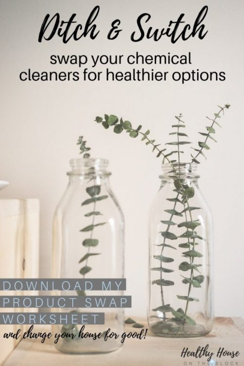 the master list for replacing your cleaning supplies and home products with toxin free options