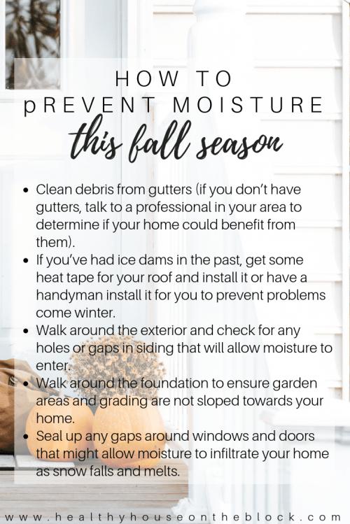 fall prevent moisture