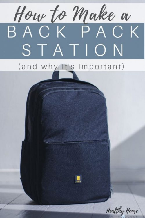 how to make a back pack station at home