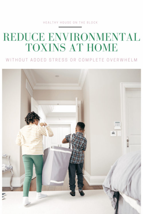 how to reduce environmental toxins at home with out added stress or complete overwhelm. Ideas from a healthy house expert