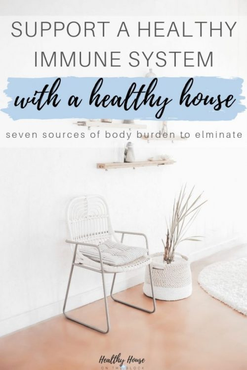 how to support a healthy immune system by reducing body burden at home