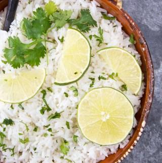 Instant Pot Cilantro Lime Rice (Chipotle Copycat)
