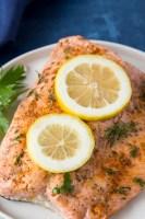 Instant Pot Lemon Pepper + Dill Salmon