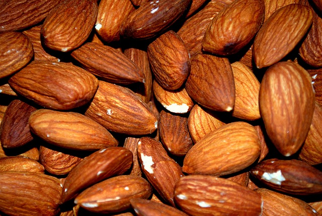 Almonds: aproximately 26mg per 100g