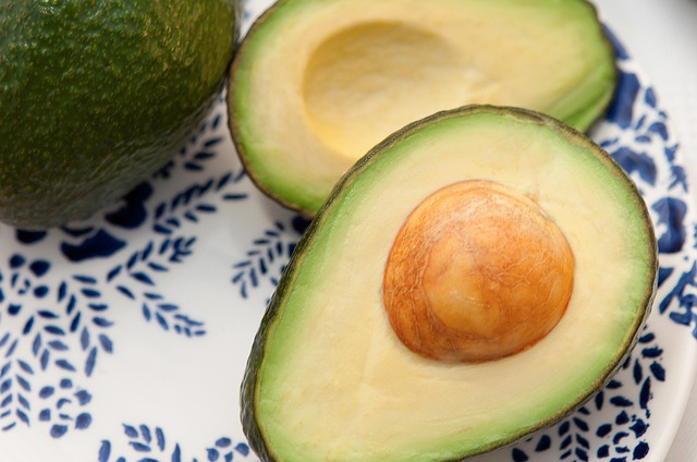Avocado contains 122μg per cup of cubed fruit
