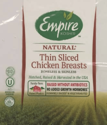 Empire Kosher Poultry Inc. Recalls Chicken Products