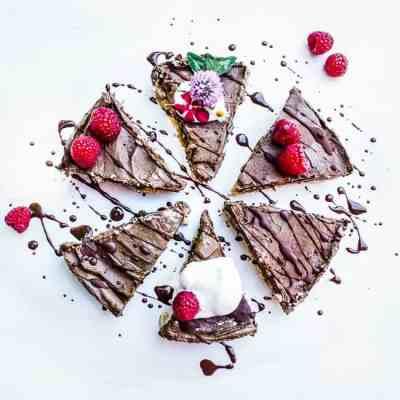 no bake raspberry chocoalte pie