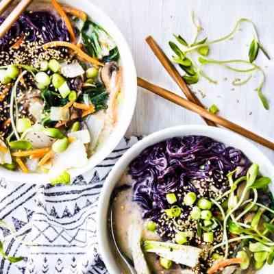 miso tahini ramen noodle bowls