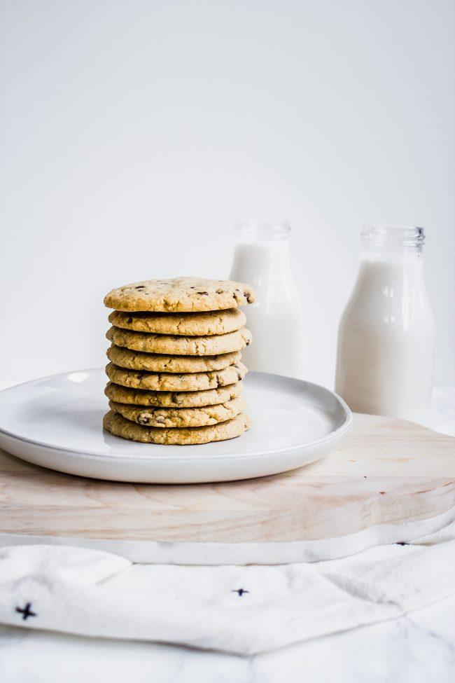 gluten-free, vegan chocolate chip cookies by healthy little vittles