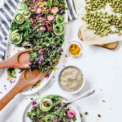 curried kale salad