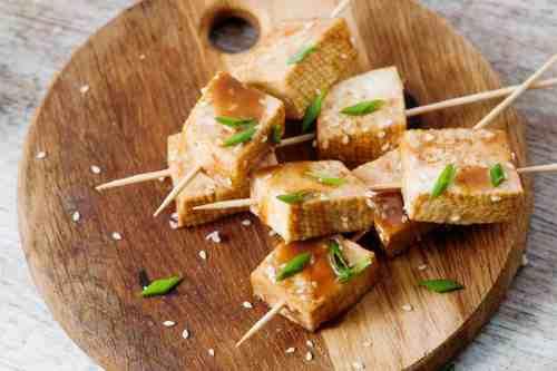 BBQ tofu skewers