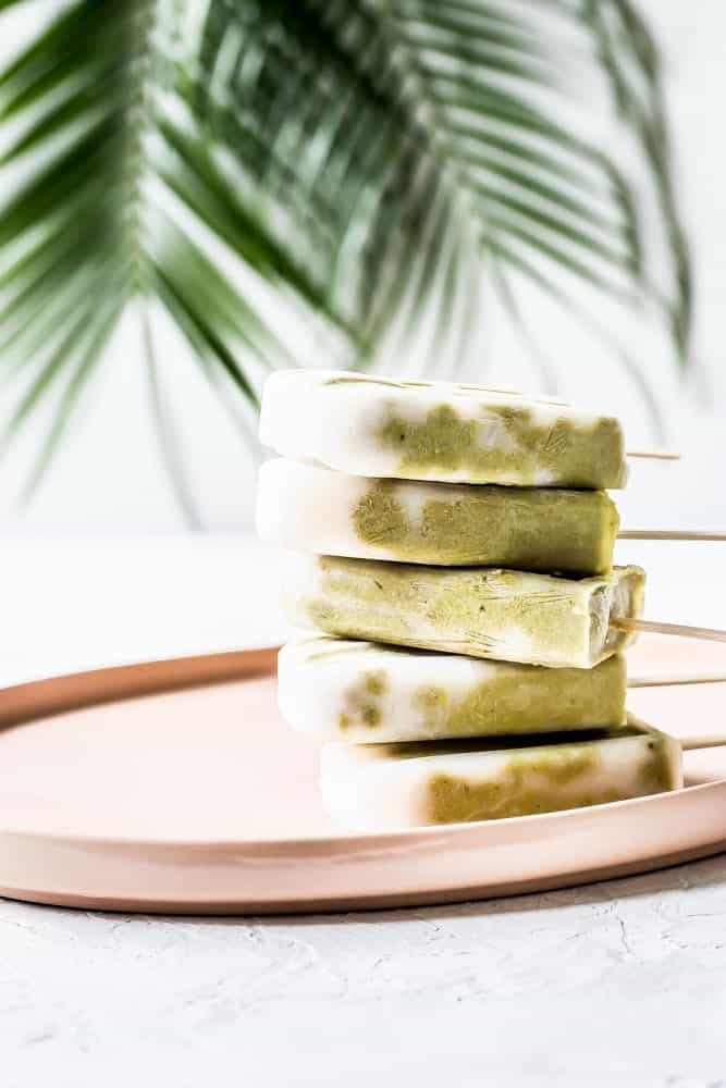 Avocado Banana Matcha Creamsicles