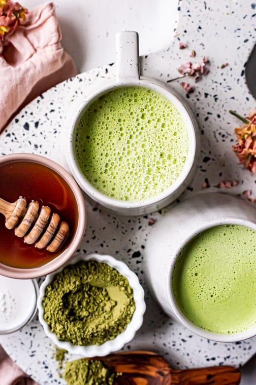 vegan matcha latte recipes