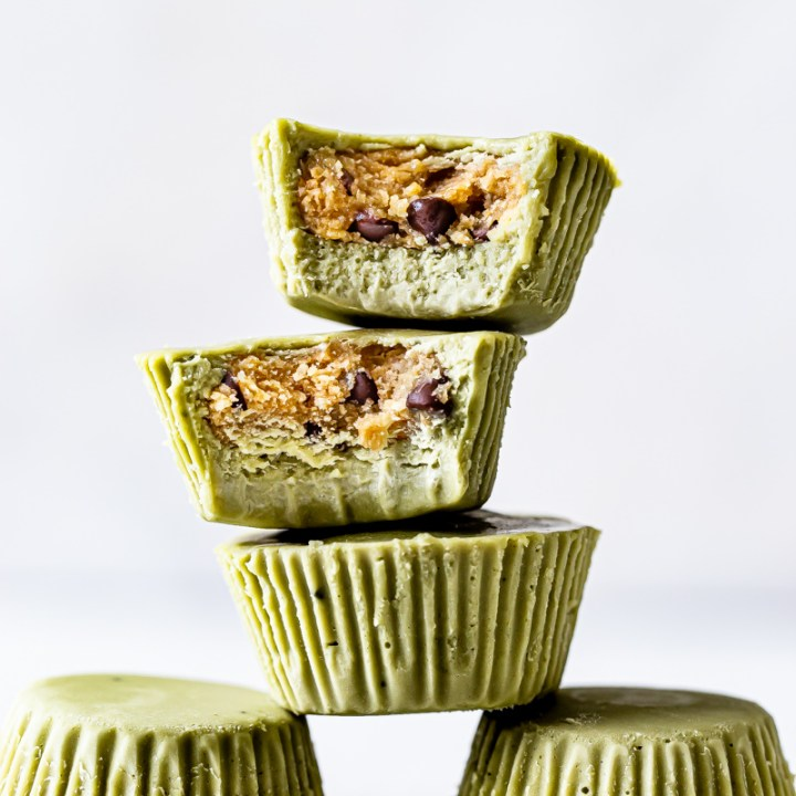 Matcha Cookie Dough Cups