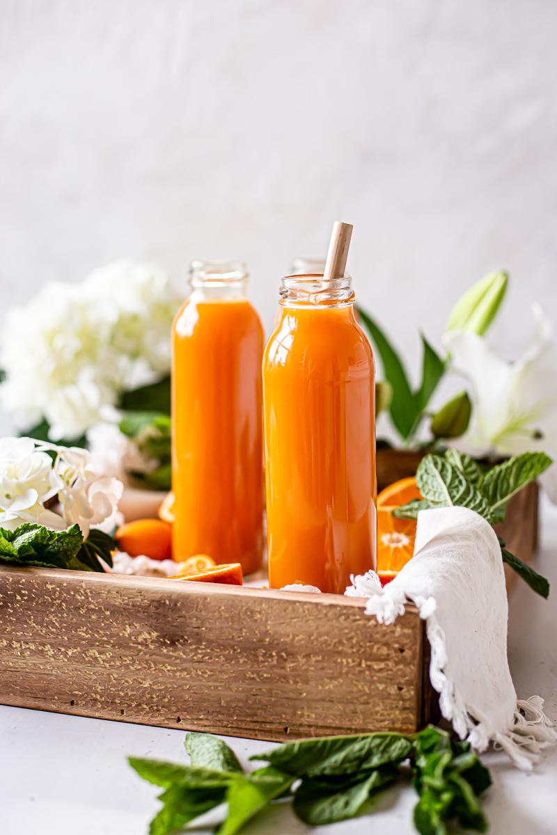 Orange Sunrise Blender Juice Healthy Little Vittles