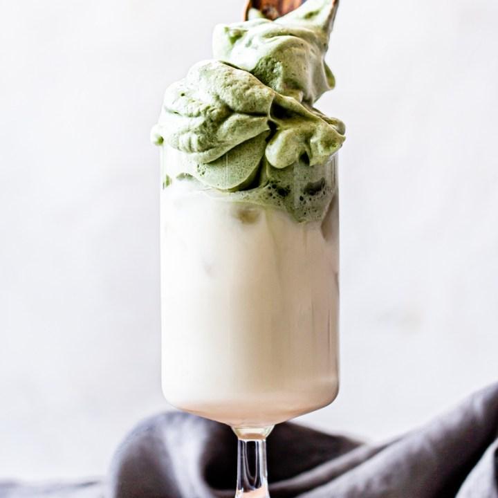 Iced Matcha Dalgona Latte