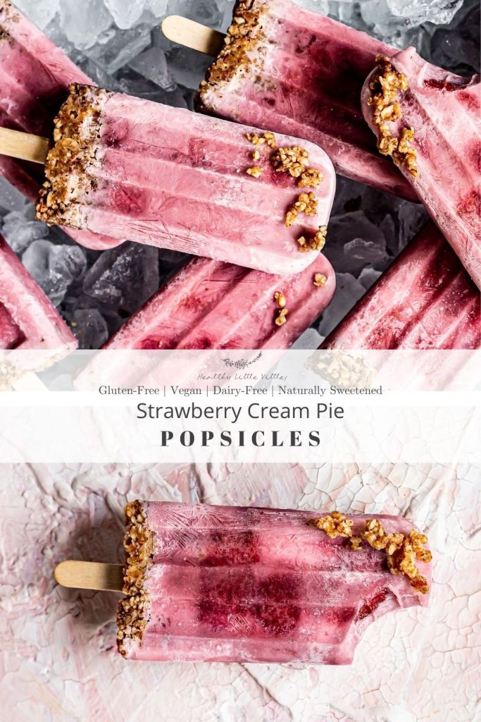strawberry cream pie popsicles
