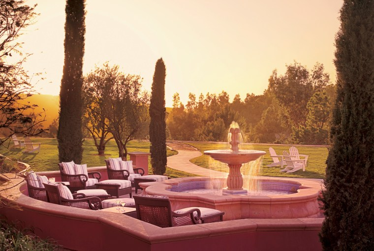 Outside Sitting Area At The Grand Del Mar, Healthy Living + Travel